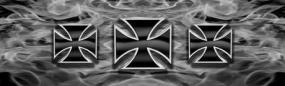 Iron Crosses-Steel Rear Window Graphic