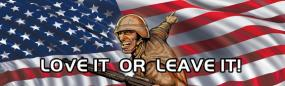 American Soldier - Love It or Leave It Rear Window Graphic