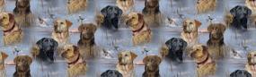 Dogs Pattern Blue Rear Window Graphic