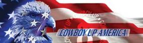 Cowboy Up America  Rear Window Graphic