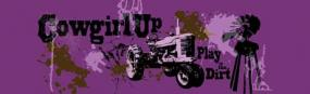 Cowgirl Up Dirty Girl Rear Window Graphic