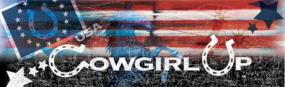 Cowgirl Up Flag Collage  Rear Window Graphic