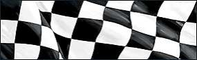 Checkered Flag Rear Window Graphic