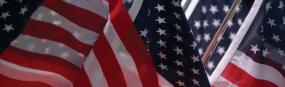 American Flags Rear Window Graphic