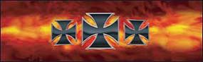 Iron Crosses-Flames Rear Window Graphic