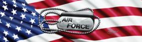 Air Force Tags Rear Window Graphic