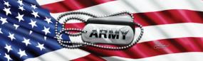 Army Tags Rear Window Graphic
