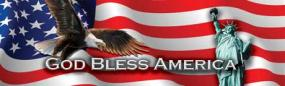 God Bless America Rear Window Graphic