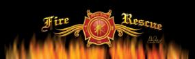 Fire Rescue Rear Window Graphic