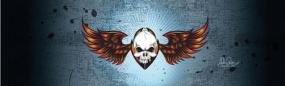 Wing Skull Rear Window Graphic