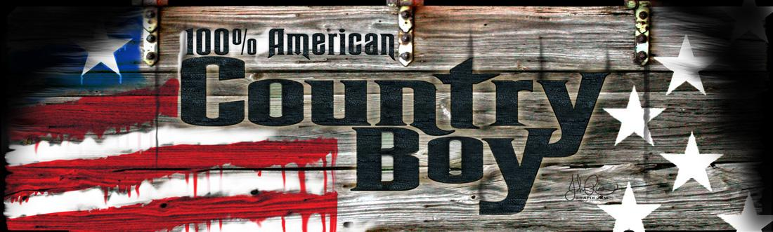 Country Boy Rear Window Graphic
